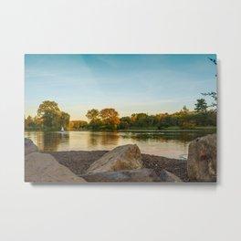 Lake Muhlenberg Shore Line Metal Print