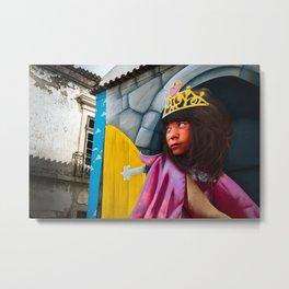 Graffiti girl Metal Print