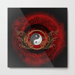 The sign ying and yang Metal Print