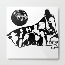 In Vader's Shadow Metal Print
