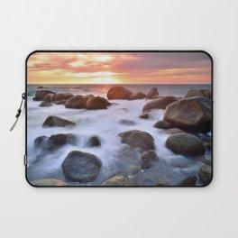 Rocky Shore Seascape Sunset Laptop Sleeve