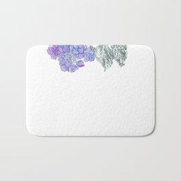 Hydrangea 01 Botanical Flower * Lavender Blue Hydrangea Bath Mat