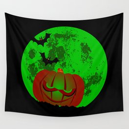 Full Halloween Moon Wall Tapestry