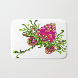 flower doodle Bath Mat
