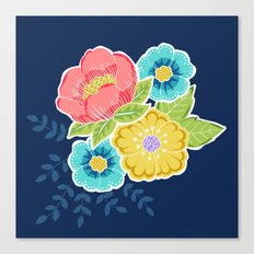 Floral Beauty - Midnight Canvas Print