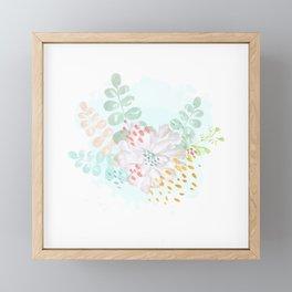 Paint splatter flower Framed Mini Art Print