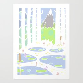View from the swamp. Art Print
