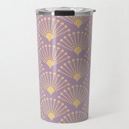 Vintage Art Deco pattern- Pastel dot dot dot Travel Mug
