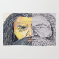 gandalf Area & Throw Rugs featuring Gandalf   by RidnelSilva