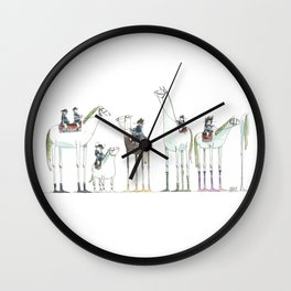 Numero 1-2-3-4-5-6 -Cosi che cavalcano Cose - Things that ride Things- SERIE ARGENTO - SILVER SERIES Wall Clock
