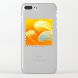 Jellyfish of the Orange Marmalade Hoodie Clear iPhone Case