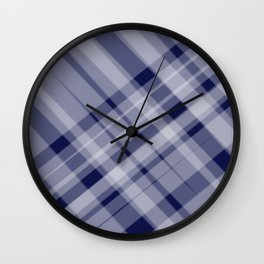 blue and white picnic Wall Clock