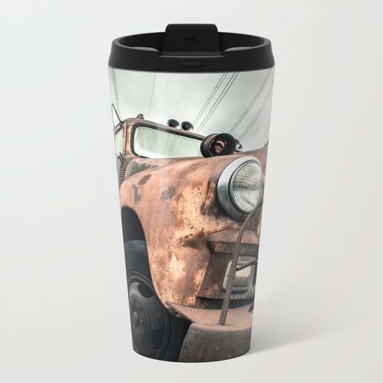 Rusty Road Metal Travel Mug