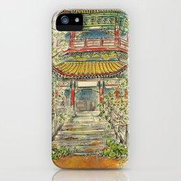 Abandoned Pagoda iPhone Case