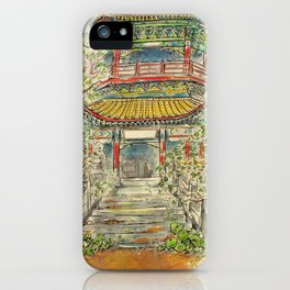 Abandoned Pagoda iPhone Case