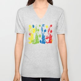 Primary Colors Unisex V-Neck