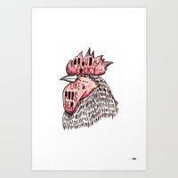 Proud Like a Rooster Art Print