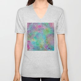 Rainbow Abstract Pattern Unisex V-Neck