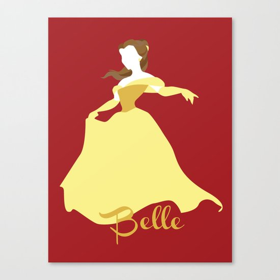 Belle from Beauty and the Beast Disney Canvas Print