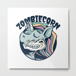 Zombiecorn cartoon best gift Metal Print