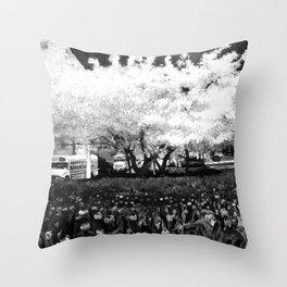 Park Ave (Black and White) Throw Pillow