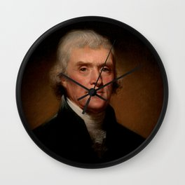 Official Presidential portrait of Thomas Jefferson Wall Clock