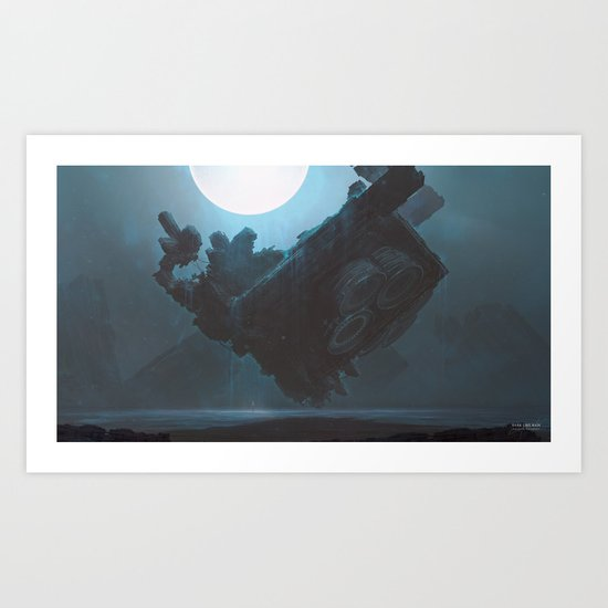 Dark like rain Art Print