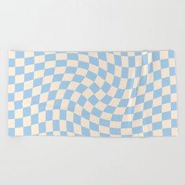 Check II - Baby Blue Twist — Checkerboard Print Beach Towel