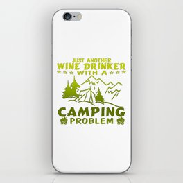 Wine & Camping iPhone Skin