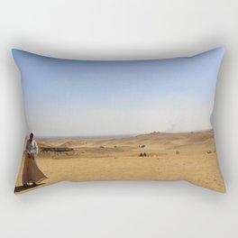 Man in Egyptian Desert Rectangular Pillow