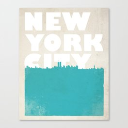New York City Bold Skyline Canvas Print