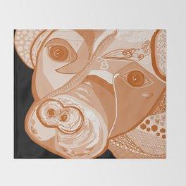 Pit Bull Sepia Tones Throw Blanket