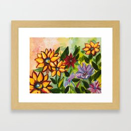 untitled- My Garden collection Framed Art Print