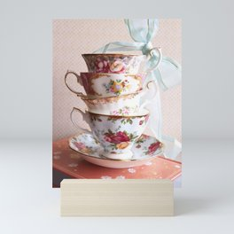 Teacup Stack Mini Art Print