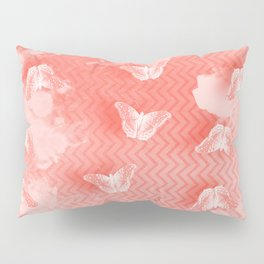 Ordered butterflies in rows Pillow Sham