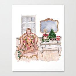 Fashionable Christmas Canvas Print