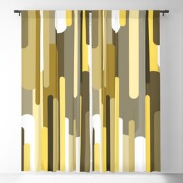 Flowing drops of paint in gold yellow, abstract liquid flow, golden background Blackout Curtain