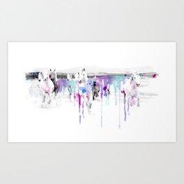 Horse in spots Art Print