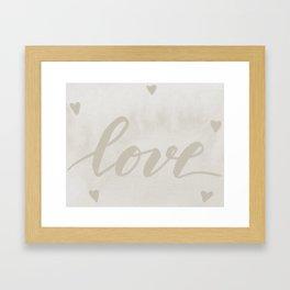 Valentine's Day Watercolor Love – white Framed Art Print