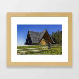 Wooden Home. Framed Art Print