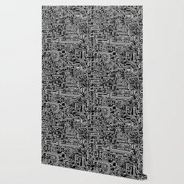 Circuit Board on Black Wallpaper