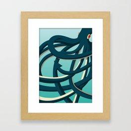 Octopus blue Framed Art Print
