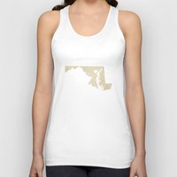 maryland Tank Tops featuring Baltimore, Maryland Love by Fercute