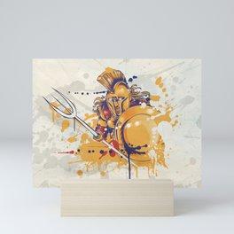 roman warrior with the trident Mini Art Print