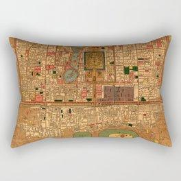 Map Of Peking 1914 Rectangular Pillow