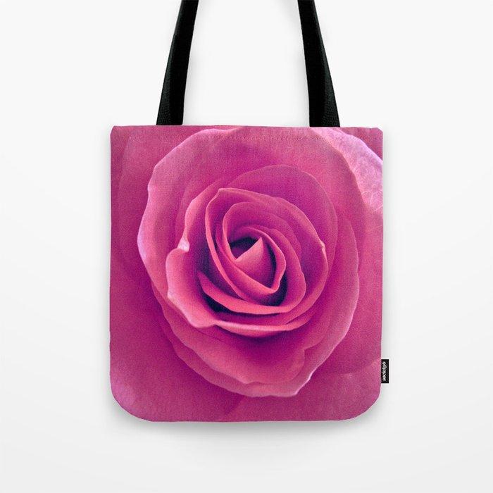 Pink Rose Tote Bag