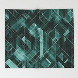 Abstract green pattern Throw Blanket