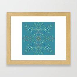 Radial Pattern II Framed Art Print