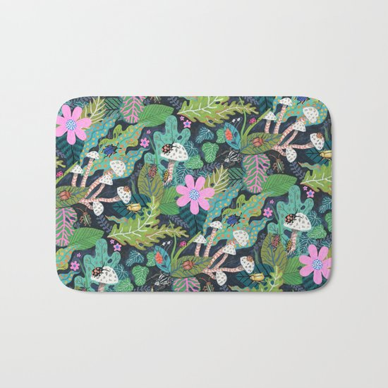 Beetle Pattern Bath Mat