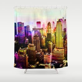 RainBow New York Shower Curtain